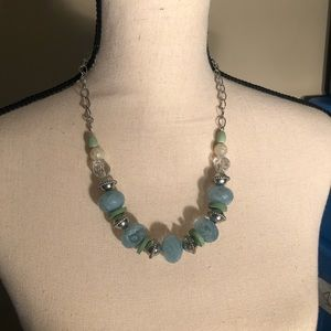 Jewelry - Blue and Green Gem Necklace